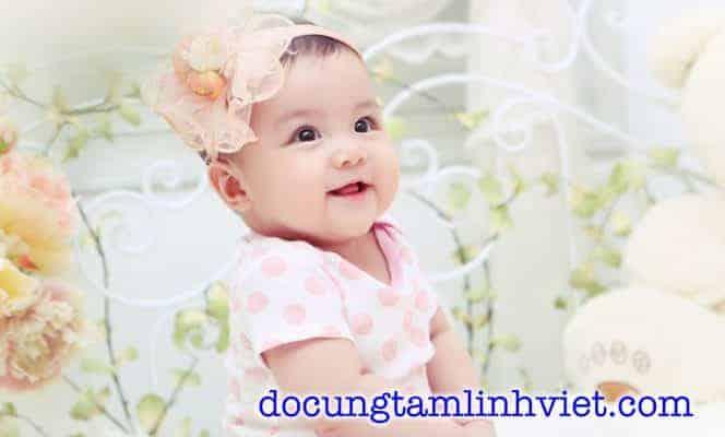 Mâm cúng đầy tháng cho bé gái