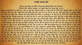 Chú Đại Bi, Tiếng Việt, Có Video chữ to dễ đọc, dễ thuộc.