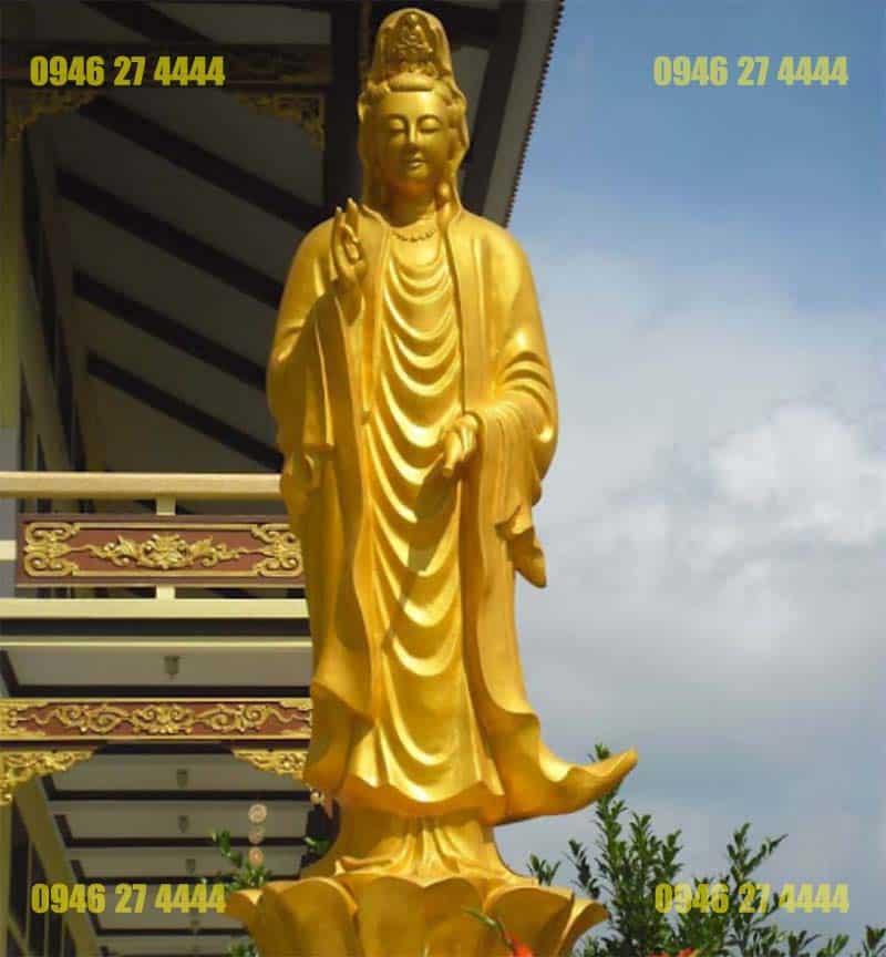 Tượng Phật bằng xi măng rất được ưa chuộng