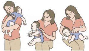 Những cách vỗ lưng ợ hơi cho trẻ mẹ cần biết