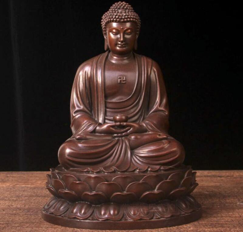 Tượng Phật A Di Đà để xe ô tô bằng đồng thau nguyên chất