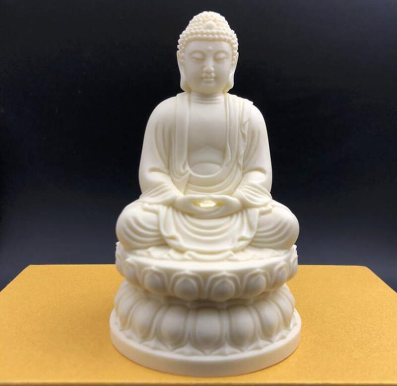 Tượng Phật Thích Ca Mâu Ni thiền định để xe ô tô bằng Ngà