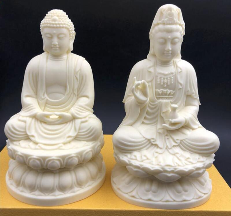 Tượng Phật để xe ô tô bằng đá Ngà