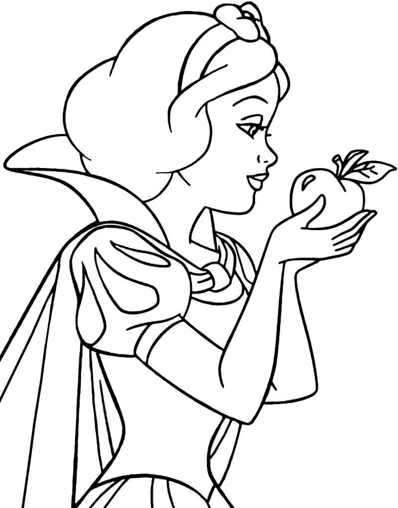 bạch tuyết chuẩn bị ăn táo 1