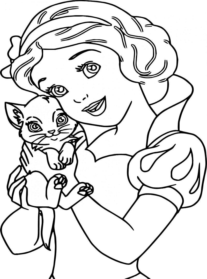 bạch tuyết và mèo con