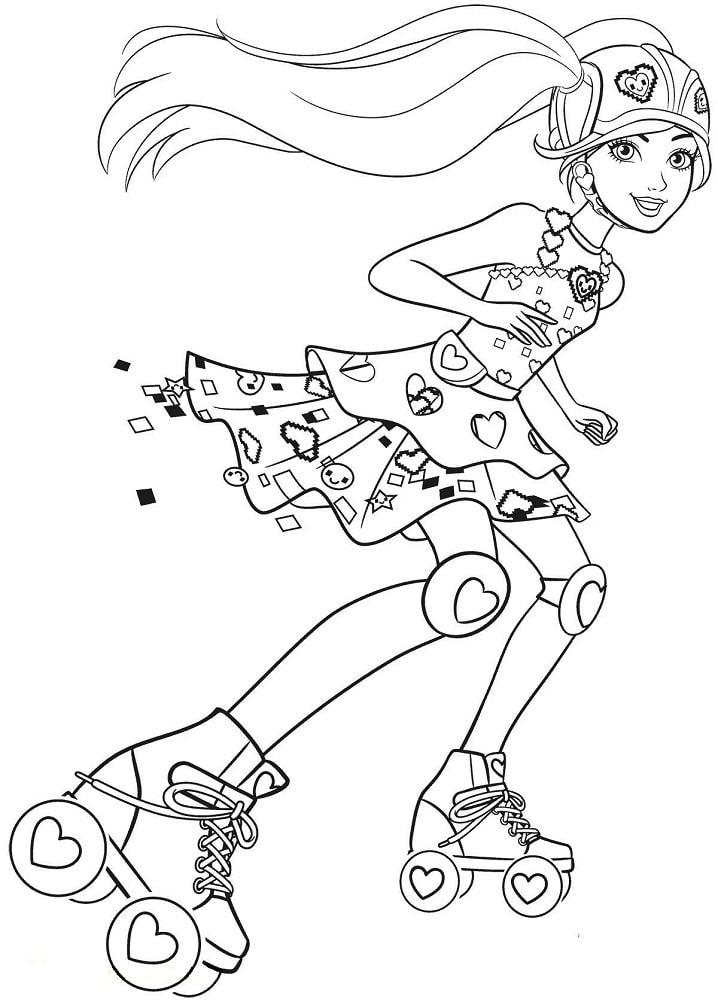 barbie trượt patin