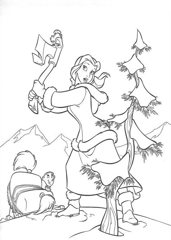 belle chặt cây 1