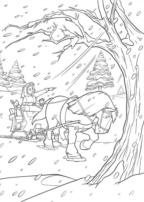 belle trong bão tuyết