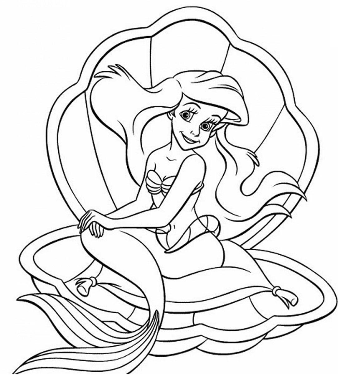 công chúa ariel trong vỏ sò