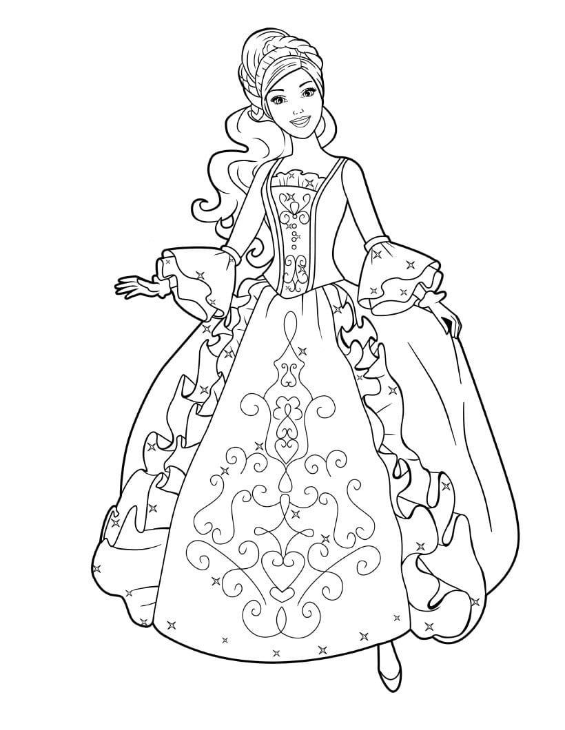 công chúa barbie trong bộ váy lộng lẫy