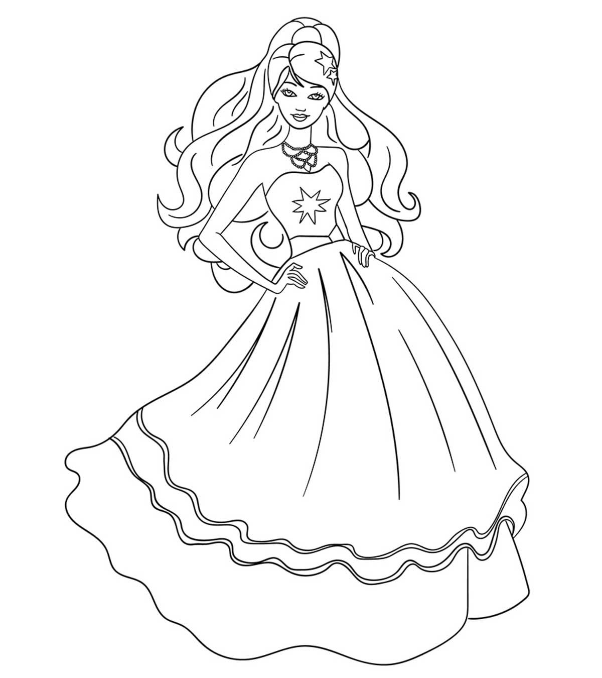 công chúa barbie xinh dẹp mặc váy dạ hội
