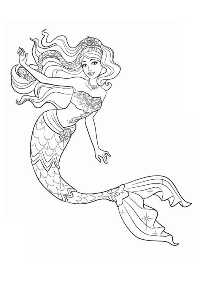công chúa người cá barbie