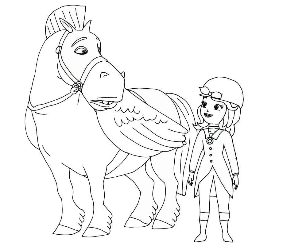 công chúa sofia cưỡi ngựa