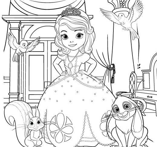 công chúa sofia và dộng vật