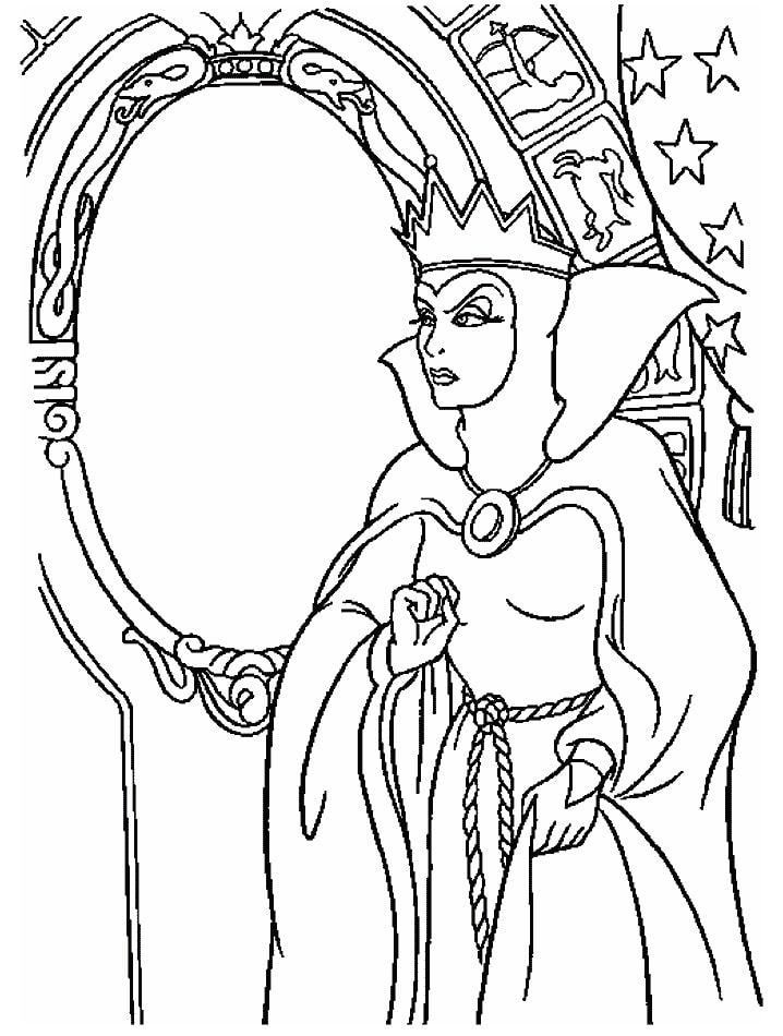 hoàng hậu bên gương thần