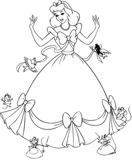 lọ lem mặc chiếc váy dẹp