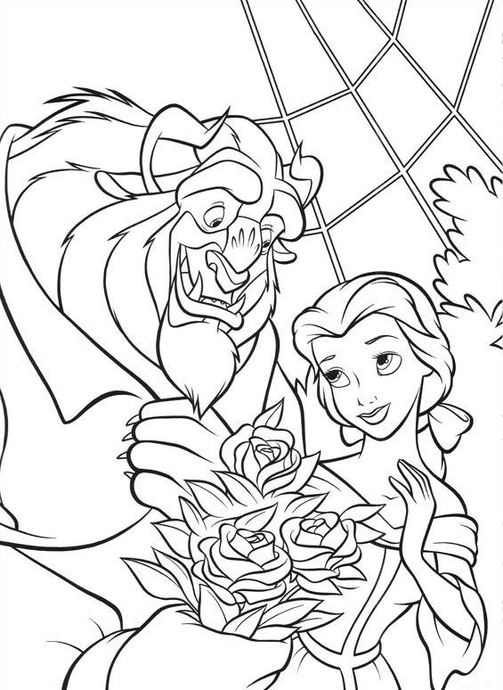 quái vật tặng hoa cho belle