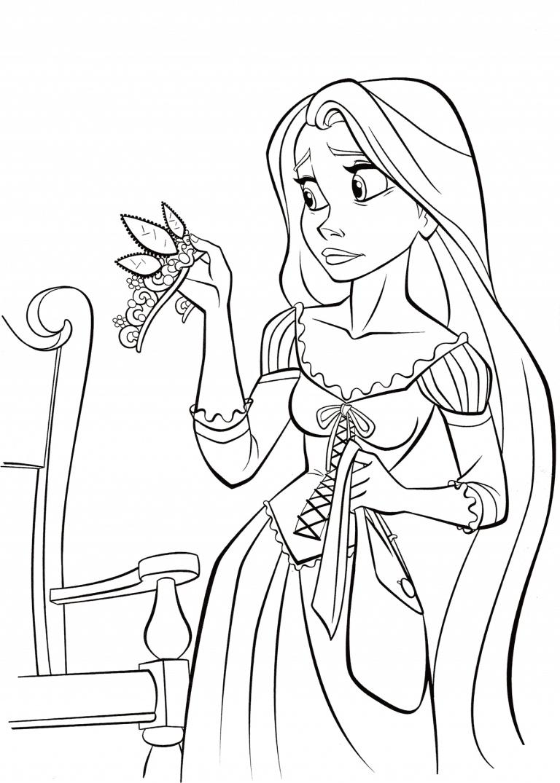 rapunzel cầm vương miện 1