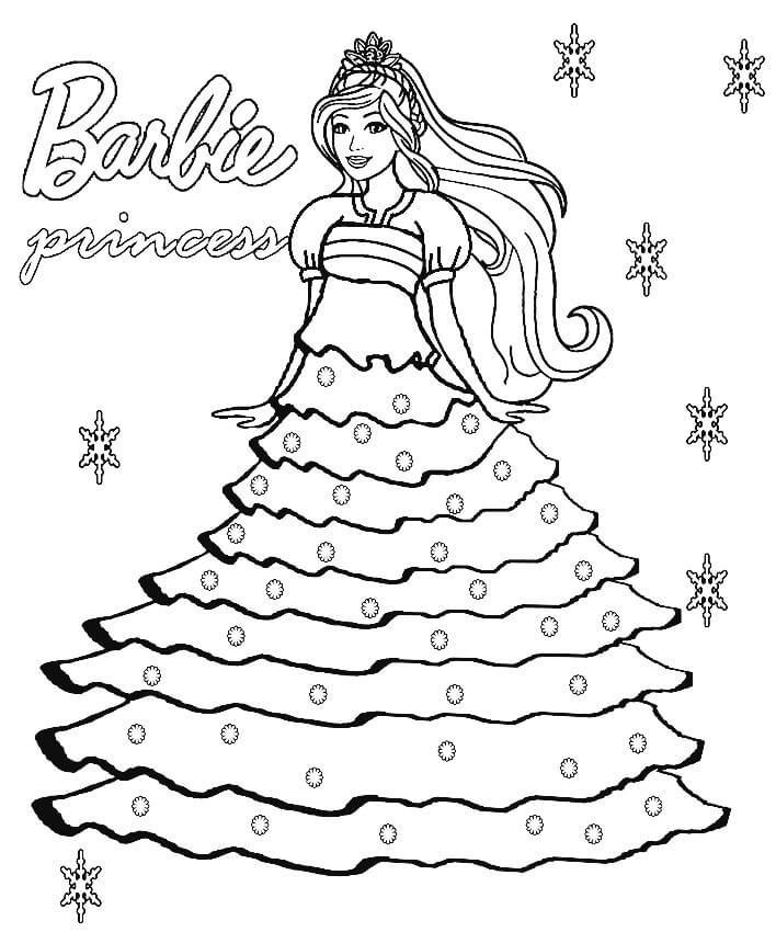 tranh to mau barbie long lay