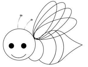 tranh to mau con ong dang yeu dang bay