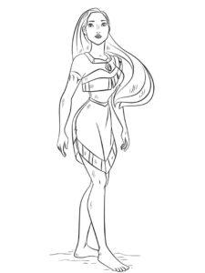 Tô Màu Công Chúa Pocahontas