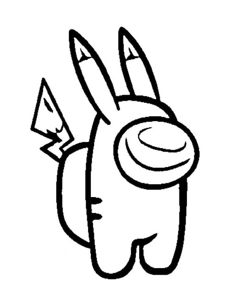 tranh to mau pikachu trong among us